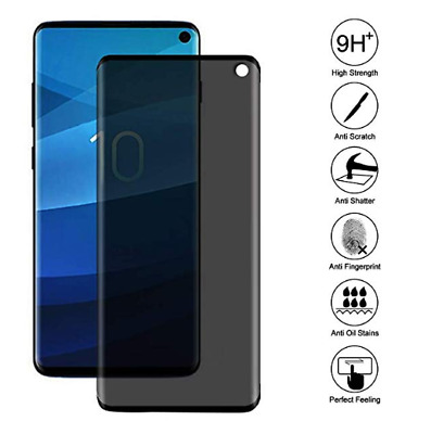 Privacy Screen protector Tempered Glass For Samsung Galaxy S10  S10 Plus  S10E