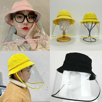 Protective Anti-spitting Anti Dust Hat Cover Outdoor Fisherman for Kids Adult US