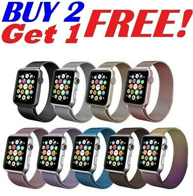 38 42 40 44mm For Apple Watch 54321 Magnetic Milanese Loop Band iWatch Strap