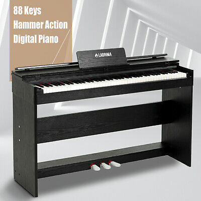 88 Weighted Action Key Electric Digital LCD Piano Keyboard wStand-3 Pedal Board