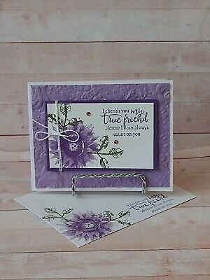 Stampin up- CHERISH MY FRIEND- Handcrafted-  Card Kit-Set of 4