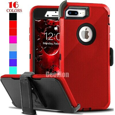 For iPhone 7 8 7 8 Plus Shockproof Case Cover With Belt Clip - Screen Protector