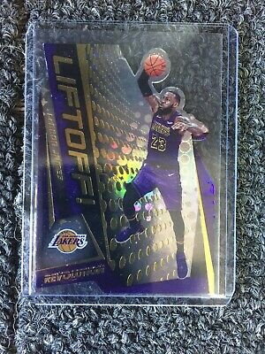 2019-20 Revolution Basketball LIFTOFF DIE-CUT Insert Lakers LeBRON JAMES 2
