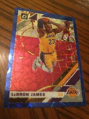 2019-20 LeBron James Optic Blue Velocity Prizm card 60-Los Angeles Lakers