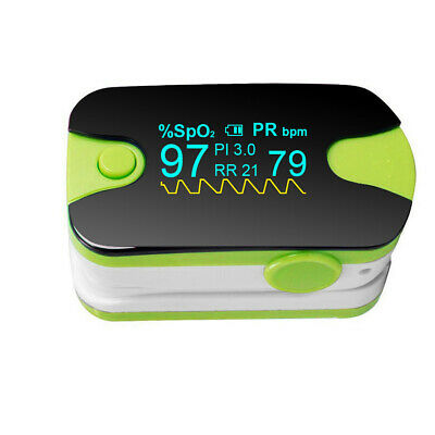 NEW Color OLED Fingertip Pulse Oximeter - PR PI Respiratory Rate Monitoring USA