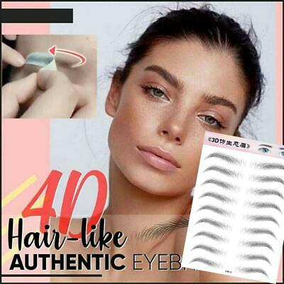 9 Pairs Women 3D Stick-on Fake Eyebrows Sticker Eye Brow Makeup Decal Cosmetic