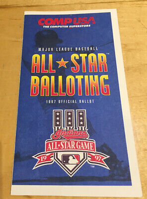 Baseball ⚾️1997 MLB All-Star Game Ballot  Jacobs Field MINT UNPUNCHED