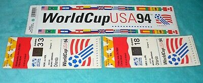 2 Used World Cup USA 94 Ticket Stubs Game 18 - 33 Orlando