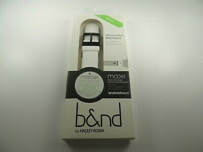 b-nd - MODE Silicone 22mm Watch Band for Android Wear - White