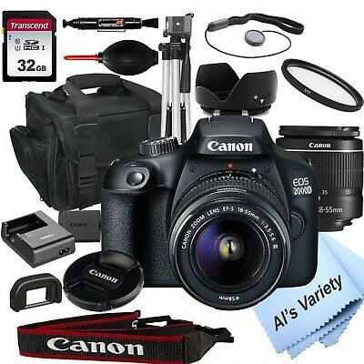 Canon EOS 2000D  Rebel T7 24-1MP  DSLR Camera - 18-55mm Lens-18PC Bundle