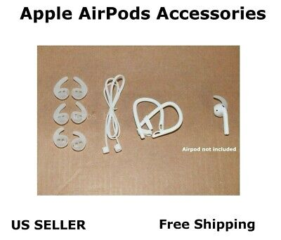 3 Pairs For Apple Airpods Ear Tips Ear Hooks Replacement Headphones Buds