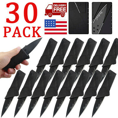 30 Outdoor Pocket Camping Cardsharp Credit Card Knife Knives Micro Camping Knife