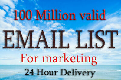 1 Million USA  ✔️✔️ Consumer Email List Sales database ✔️ ✔️ Good for Ecomerce