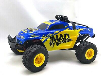 JJ RC Mad Man  112th Scale Electric RTR RC Blue TRUCK