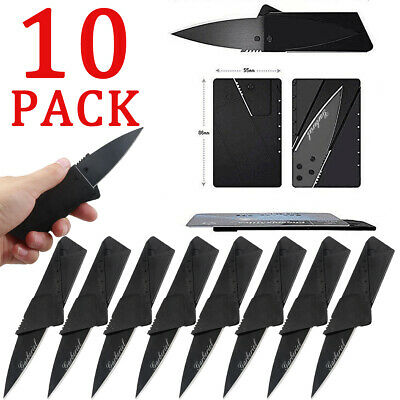 10 Outdoor Pocket Camping Cardsharp Credit Card Knife Knives Micro Camping Knife