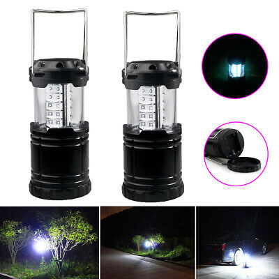 2x Portable Outdoor Collapsible 30LED Camping Lantern Bright Tent Lamp Flashligh