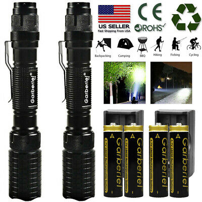 Tactical Police SWAT 5Modes 18650 T6 LED Flashlight Aluminum Zoomable Powerful