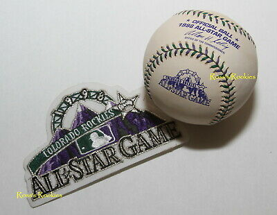 1998 ALL STAR GAME OFFICIAL RAWLINGS MAJOR LEAGUE BASEBALL BALL AND PATCH COMBO