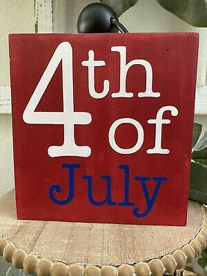 4th Of July  Wood SignTiered TrayRae Dunn Inspired