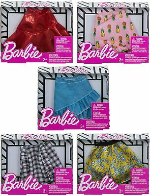 Barbie Doll Fashion Clothing Mini Skirts 5-Pack Bundle Girl Clothes Gift