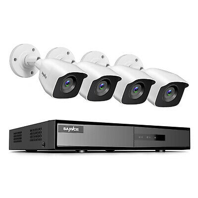 SANNCE H-264- 4CH DVR Outdoor HD 1080P Video CCTV Security Camera System Onvif
