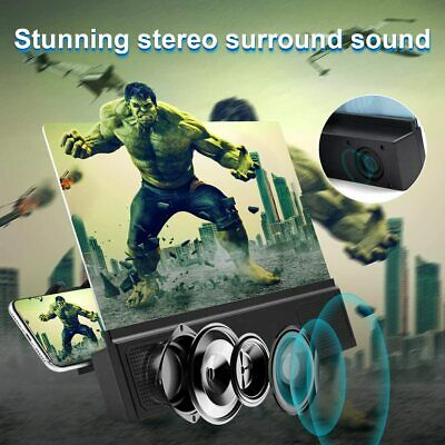 12 Phone Screen Magnifier with Speaker 3D HD Movies Amplifier