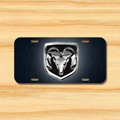 Dodge Ram Aluminum Front license plate 6x12 Printed Free shipping