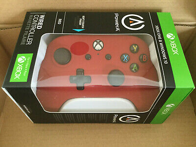 PowerA Wired Controller for Xbox One - Windows 10 Red Brand NEW Factory Sealed