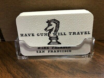 HAVE GUN WILL TRAVEL  Paladin 30- Business size CARDS  Amazing Quality