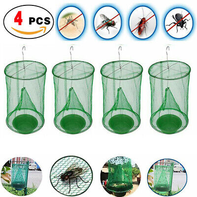 4 x The Ranch Fly Trap Reusable Fly Catcher Killer Cage Net Trap Pest Bug Catch