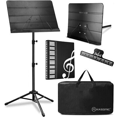 Professional Sheet Music Stand With Portable Carrying Bag and Music Folder