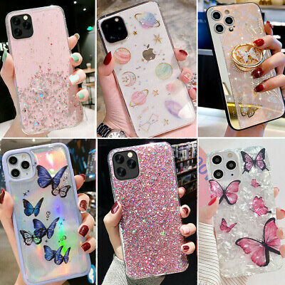 For Iphone 12 Pro Max 11 8 XS Max XR Bling GLITTER Sparkle Cute Phone Case Cover