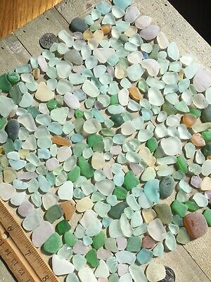 324 Craft GradeSurf Tumbled Seaglass Gems Light Colors All Sizes- Pretty