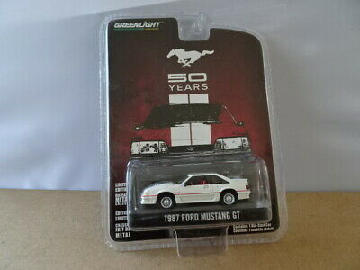 GREENLIGHT FORD MUSTANG GT 1987 WHITE FREE UK POST