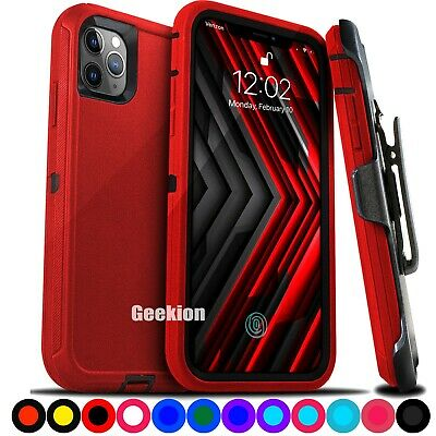 For iPhone 11  11 Pro Max Shockproof Rugged Defender Cover Case with Belt Clip