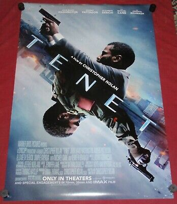 Tenet Movie Poster 27x40 DS M- Caine  John David Washington  Robert Pattinson