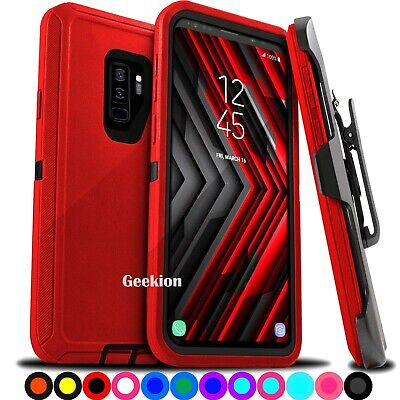 For Samsung Galaxy S9  S9- Plus Shockproof Protective Hard Case Belt Clip