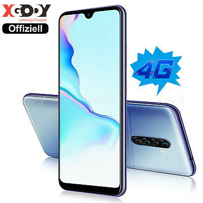 Neu LTE 4G Smartphone 6,3 Zoll Android 9.0 Handy Ohne Vertrag Dual SIM 4Core GPS