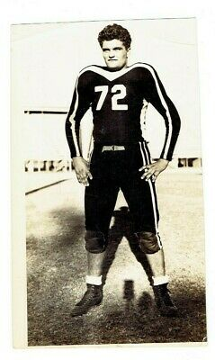 Vintage 1950's Single Football Player Photo Handsome #72