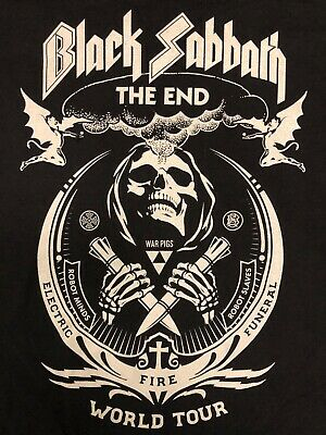 BLACK SABBATH The End Tour T-Shirt - Designed by Shepard Fairey  Obey