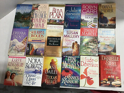 Lot of 20 Contemporary Romance Novels Random Mix Top Authors Ships FREE