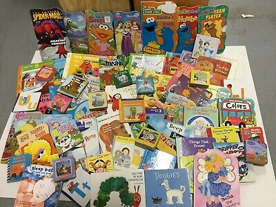10 LBS of Childrens BABY TODDLER DAYCARE BOARD BOOKS Chunky Books RANDOM MIX