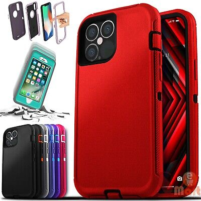 For iPhone 12 Mini 11 Pro Max X XR XS SE 8 7 6 Plus Shockproof Defender Case