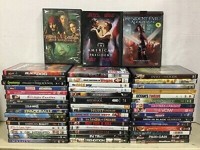 LOT OF 10 ADULT DVD ASSORTED MOVIES and Tv Shows RANDOM MIXED LOT PG-R Used