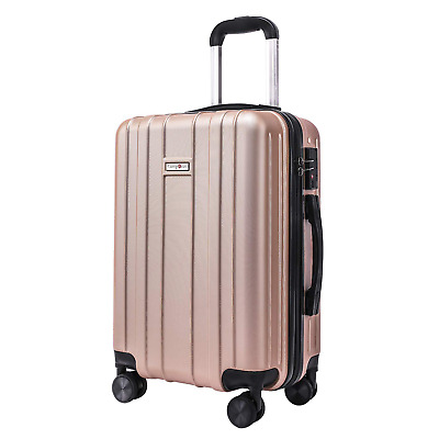 CarryOne 20in Carry on Luggage Suitcase Built-in TSA Lock Spinner Wheels Side