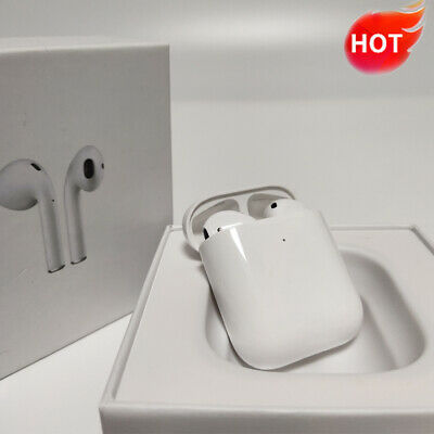 Refurbished AirPods 2nd Gen Bluetooth Earbuds with Wireless Charging Case