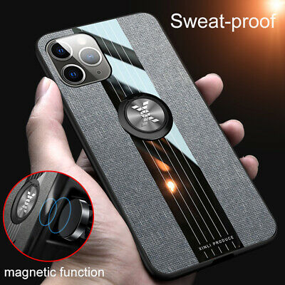 For iPhone 12 Pro Max 12mini Slim Ring Stand Holder Rubber Back Phone Case Cover