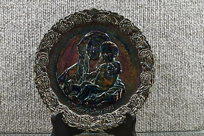 Fenton Carnival Glass Plate Mothers Day 1972