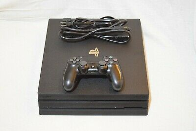 Sony Playstation 4 Pro 1TB CUH-7215B wOne Black Controller - Cables - Used