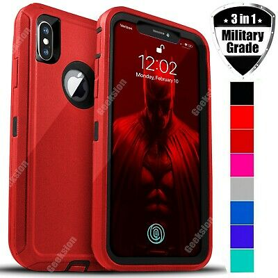 For Apple iPhone X XR XS Max Shockproof Rugged Protective Hybrid Case Cover